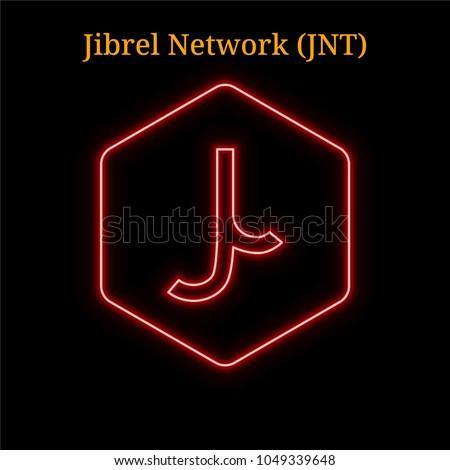 JNT Jibrelnetwork - Cryptocurrency Colored Logo. Digital Coin Icon. Stock photo © tashatuvango