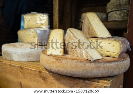 Traditional Auvergne cheese Stock photo © boggy
