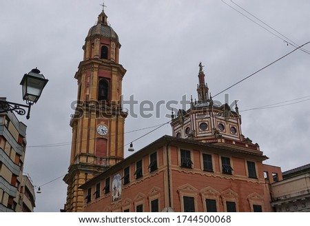 Basilica of San Gervasio e Protasio in Rapallo, Italy Stock photo © boggy