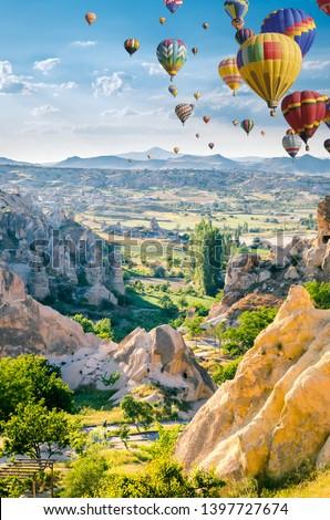 A beautiful cappadocia scene Stock photo © bluering