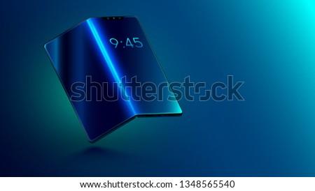 Görbület tabletta fiatal lezser férfi áll Stock fotó © pressmaster