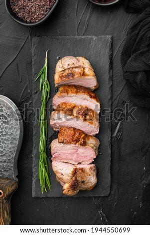 Pato carne fatias prato isolado Foto stock © szefei
