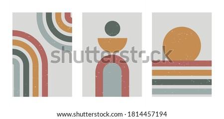 Streszczenie współczesny pasiasty proste szablony broszury Zdjęcia stock © ExpressVectors