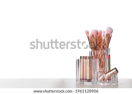 verschillend · gezicht · cosmetica · make · geïsoleerd · verticaal - stockfoto © freedomz