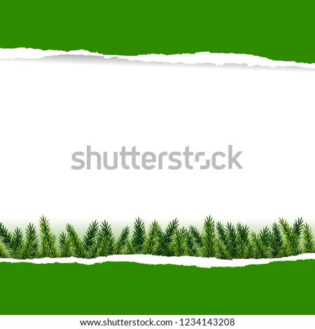 Ripped Green Paper With Furtree Stock photo © cammep