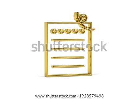 Eenvoudige gouden lint boeg 3D Stockfoto © djmilic
