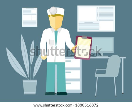 Young physician with special equipment on head examining patient in hospital Stock photo © pressmaster