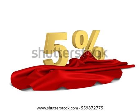 Korting teken doek dekken 3d illustration geïsoleerd Stockfoto © montego