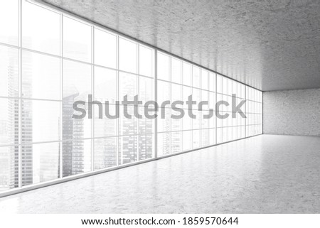 Empty commercial modern business office balcony with big windows showing view Stock photo © wavebreak_media