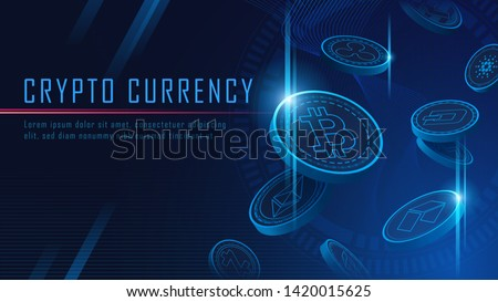 Cryptocurrency concept. Virtual currency background, Bitcoin Stock photo © JanPietruszka