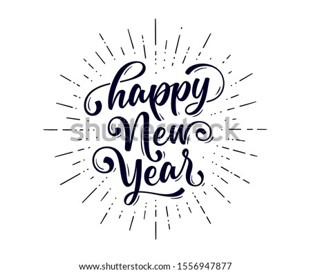 happy new year 2020 creative line style background Stock photo © SArts