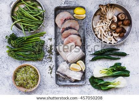 raw mixed mushrooms Stock photo © nito