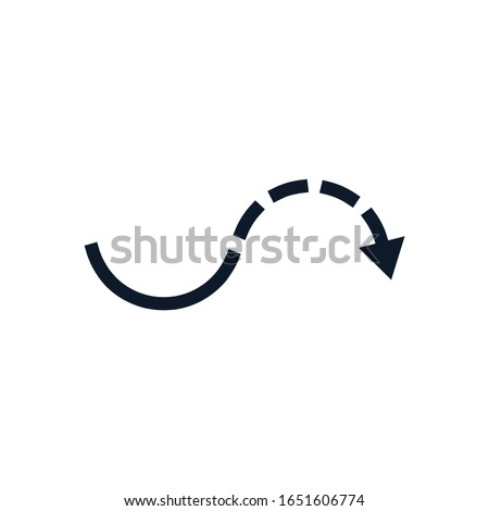 Half dashed curve arrow icon. go around the object. Stock Vector illustration isolated on white back Stock photo © kyryloff