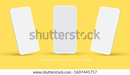 Realistic vector flat mock-up smartphone isolated on white background. Scale image any resolution Stock photo © karetniy
