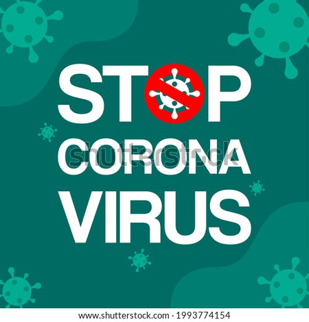 poster design for coronavirus theme with doctor and virus cells stock photo © bluering