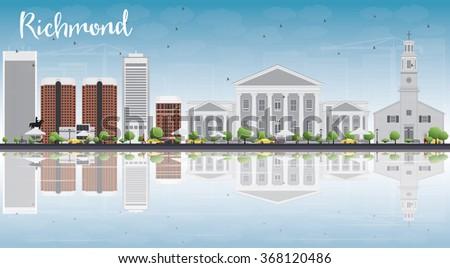 Virginia panoramę niebieski budynków Zdjęcia stock © ShustrikS