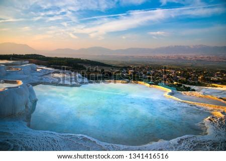 Beroemd turks panoramisch moderne stad Stockfoto © olira