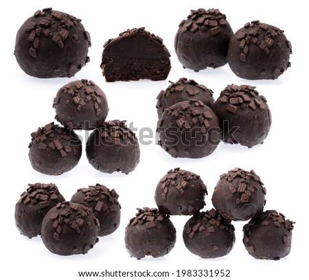 Koyu çikolata yalıtılmış beyaz tatlı gıda tatlı Stok fotoğraf © Anneleven