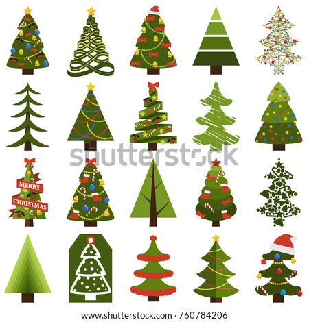 Verde ataviar árbol diseno hojas perennes forma Foto stock © robuart
