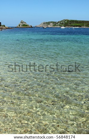 Shallow clear water between Bryher and Tresco, Isles of Scilly. Stock photo © latent