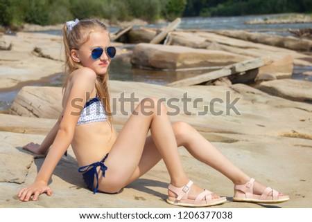 Stock fotó: Portré · fiatal · szexi · bikini · modell · lenyűgöző · nő