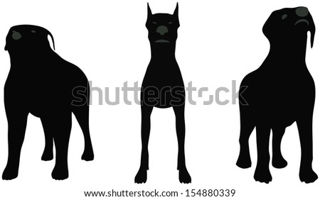 stock vector of dog silhouette standing in front of white background Stock photo © Istanbul2009