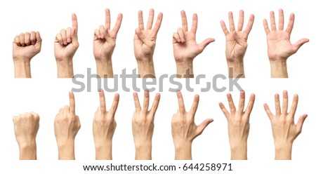 male hands counting number three stock photo © oly5