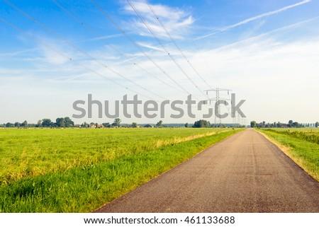 electrical pylon in rural area stock photo © meinzahn