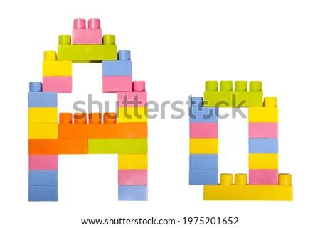 IAAS - Colored Childrens Alphabet Blocks. Stock photo © tashatuvango