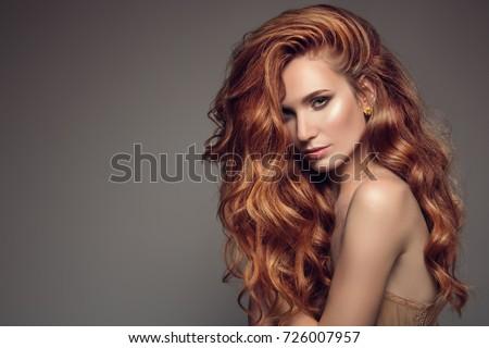 bellezza · giovani · donna · rosso · battenti - foto d'archivio © nejron