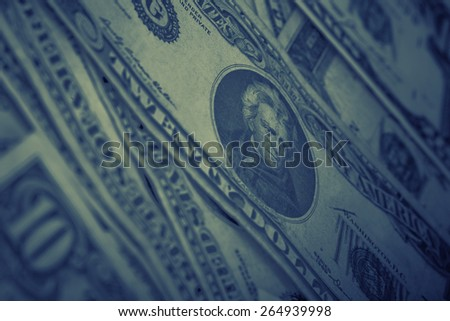Dollar artistiek foto ondiep ruimte Stockfoto © Lizard