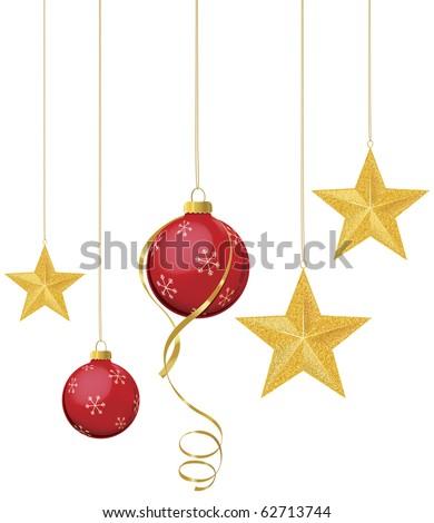 kırmızı · Noel · önemsiz · şey · asılı · şube · beyaz - stok fotoğraf © fanfo