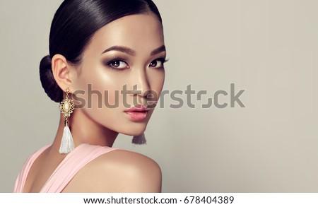 Mooie mode model jonge vrouw witte eyeliner Stockfoto © svetography