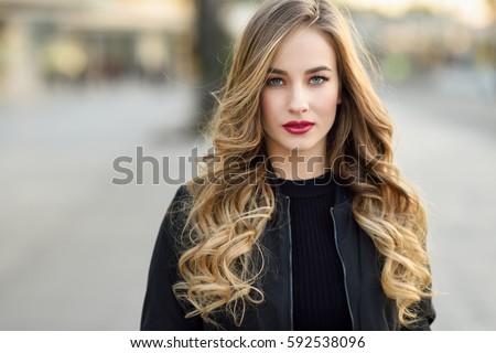 mooie · blond · dame · vrouw · schoonheid · jonge - stockfoto © konradbak