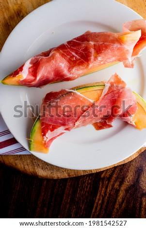 Prosciutto sottile fetta asciugare affumicato carne Foto d'archivio © Digifoodstock