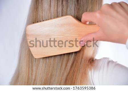 young woman with hairbrush stock photo © simply