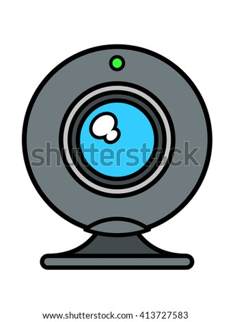 Web cam front view with blue lens Stock photo © adrian_n