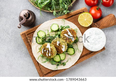 sandwich with vegetable and falafel Stock photo © M-studio