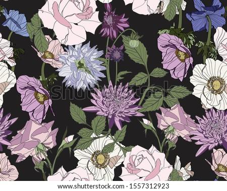 Wzrosła puli domu kwiat tekstury Zdjęcia stock © popaukropa