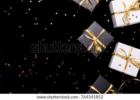 luxe · zwarte · goud · lint - stockfoto © illia
