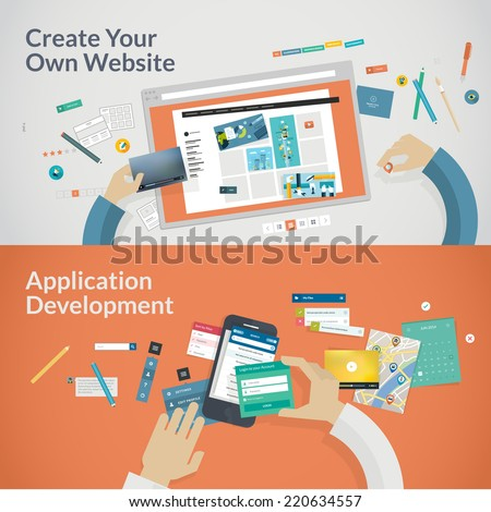 video on tablet icon concept for mobile applications and media marketing concept for on line educa stock photo © makyzz