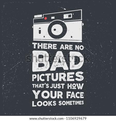 タイポグラフィ ポスター 古い スタイル カメラ 引用 ストックフォト © JeksonGraphics