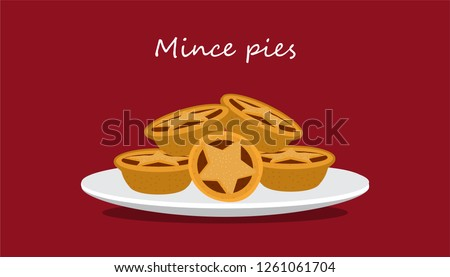 Stock photo: Mince pies  - traditional Christmas pastry