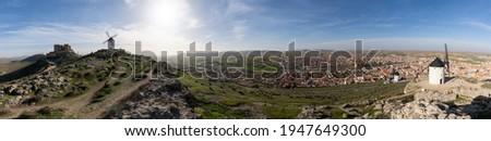 Panorama of Consuegra Stock photo © benkrut