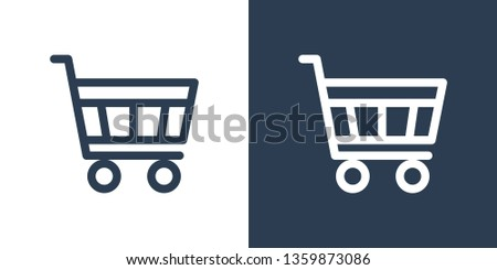 Vector Supermarket Shopping Cart with Percentage Sign for Sale . Big Discount Concept. Vector Illust Stock photo © kyryloff
