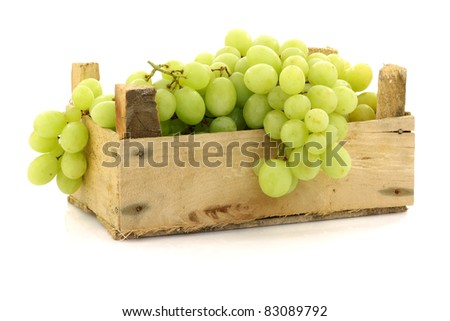 fresh raw organic berries in white wooden box on white kitchen table background space for text top stock photo © denismart