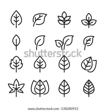 ősz · levél · ikon · illusztráció · egyszerű · absztrakt - stock fotó © Blue_daemon