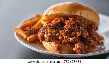 Sloppy joe - American sandwich Stock photo © Alex9500
