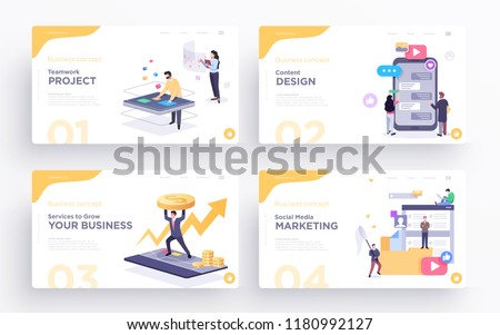 estadística · presentación · texto · establecer · botones - foto stock © rastudio