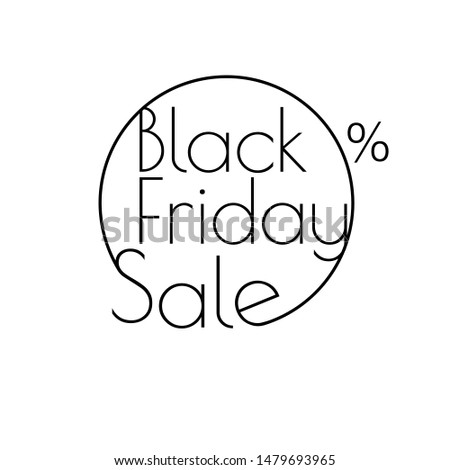 abstract vector black friday sale linear layout for art template design list page mockup brochur stock photo © kyryloff